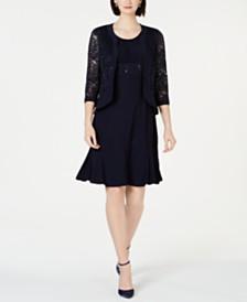 R & M Richards Lace & Sequin Jacket & Dress