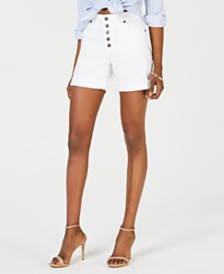 Kut from the Kloth Catherine High-Rise Boyfriend Short with Exposed Button Fly