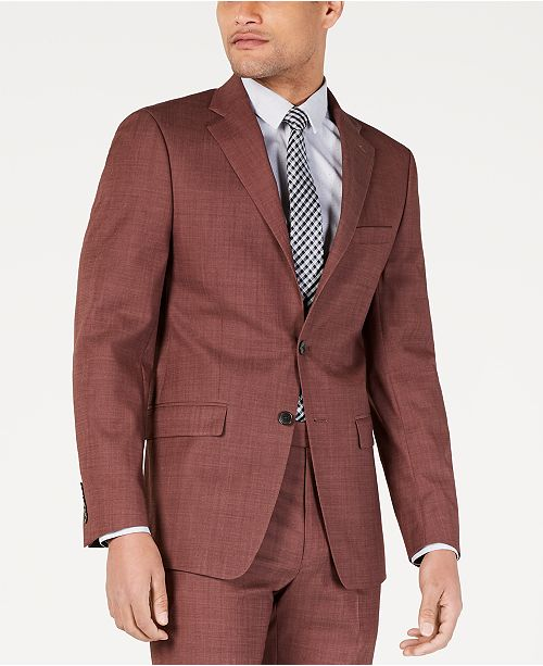 Calvin Klein Men's Slim-Fit Stretch Solid Suit Jacket