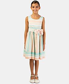 Bonnie Jean Toddler Girls Striped Bow Dress