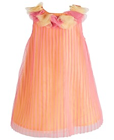 Blueberi Boulevard Baby Girls Pleated Dress