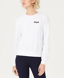 Fila Emilia Logo Velour Sweatshirt