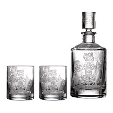 Waterford Master Craft Crest Decanter & Tumbler Set of 4