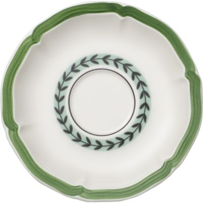 French Garden Green Lines Espresso Cup Saucer