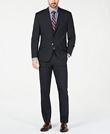Men's Classic-Fit UltraFlex  Stretch Charcoal Windowpane Suit Separates