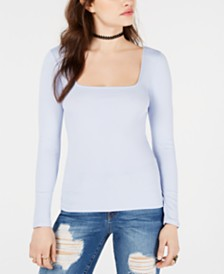 GUESS Long-Sleeve Polina Ribbed Top