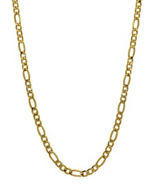 "Figaro Link 22"" Chain Necklace (3.21mm) in 18k Gold"