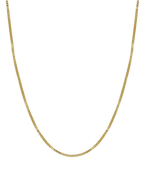 "Stanley Creation Box Link 16"" Chain Necklace (0.5mm) in 18k Gold"