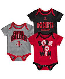 Outerstuff Houston Rockets 3 Piece Bodysuit Set, Infants (0-9 Months)