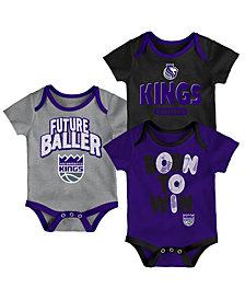 Outerstuff Sacramento Kings 3 Piece Bodysuit Set, Infants (0-9 Months)