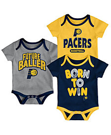 Outerstuff Indiana Pacers 3 Piece Bodysuit Set, Infants (0-9 Months)