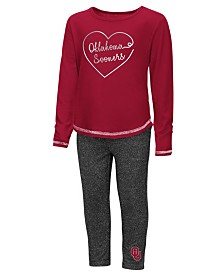 Colosseum Oklahoma Sooners Legging Set, Toddler Girls (2T-4T)
