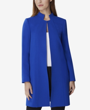 Tahari Asl Jackets STAND-COLLAR TOPPER JACKET