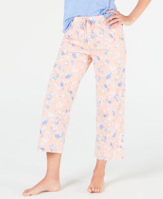 8089fa20a195 Charter Club Knit Short-Sleeve Top & Pajama Pants Sleep Separates ...