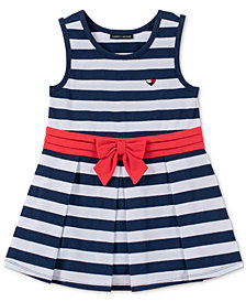 Tommy Hilfiger Toddler Girls Striped Pleated Dress