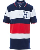 983b3493 Tommy Hilfiger Big Boys Colorblocked Stripes Logo Polo