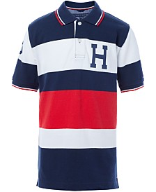 Tommy Hilfiger Little Boys Logo Stripe Piqué Polo