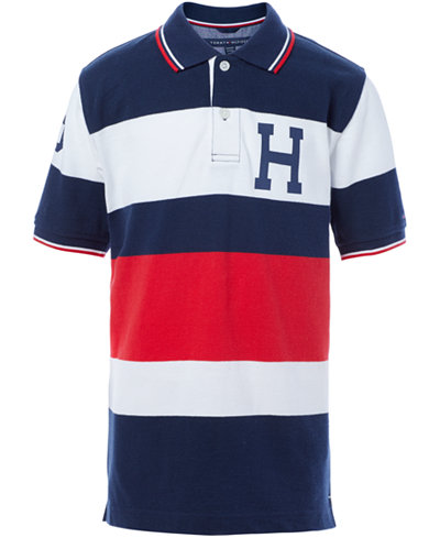 Tommy Hilfiger Big Boys Colorblocked Stripes Logo Polo
