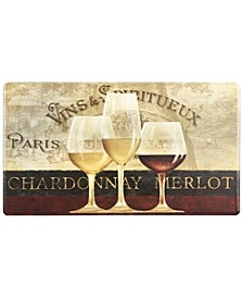 """Cook N Comfort """"Chardonnay and Merlot"""" Embossed Cushioned Anti-Fatigue Kitchen Mat"""