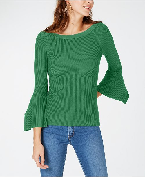 INC International Concepts I.N.C. Petite Flutter-Sleeve Sweater, Created for Macy's