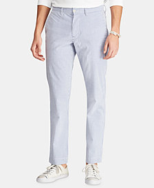 Polo Ralph Lauren Men's Straight-Fit Seersucker Pants