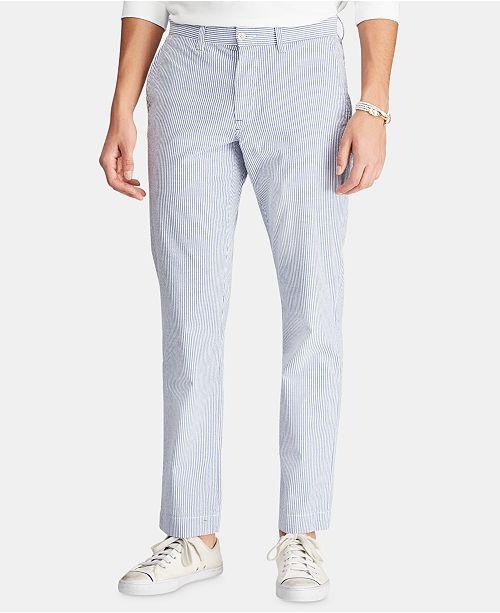 Polo Ralph Lauren Men S Straight Fit Seersucker Pants Reviews