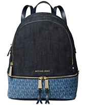 d14658bb9b32 MICHAEL Michael Kors Rhea Signature Denim Backpack