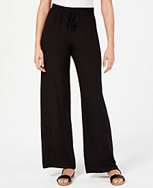 Juniors' Wide-Leg Soft Pants