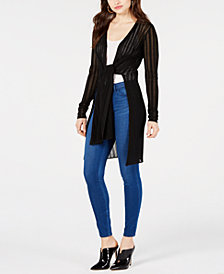 GUESS Christabel Tie-Front Cardigan Sweater