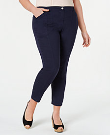 Style & Co Plus Size Bandit Skinny Pants, Created for Macy's