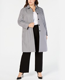 5dda02dcdf2e8 Anne Klein Plus Size Gingham-Print Jacket