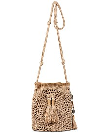 The Sak Sayulita Crochet Drawstring Crossbody