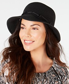 I.N.C Packable Beaded Cloche, Created for Macy's