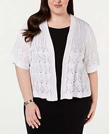 Plus Size Pointelle Cardigan