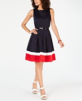 98a3435bcd7 Tommy Hilfiger Fit And Flare Dress: Shop Fit And Flare Dress - Macy's