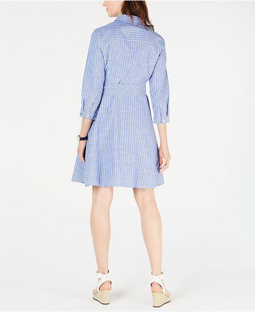 Tommy Hilfiger Cotton Striped Shirtdress 929c8b0e3b
