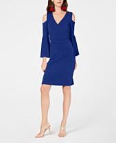 9b63e89500 I.N.C. Cold-Shoulder Bell-Sleeve Dress