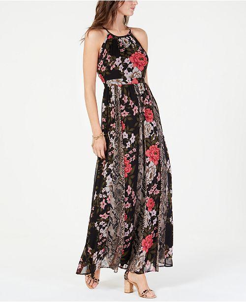 92040df192c INC International Concepts I.N.C. Mixed-Print Maxi Dress