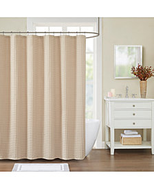 "Decor Studio Elm Waffle 72"" x 72"" Shower Curtain"