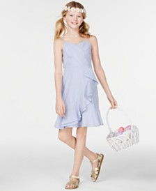 Rare Editions Big Girls Ruffle-Trim Seersucker Dress