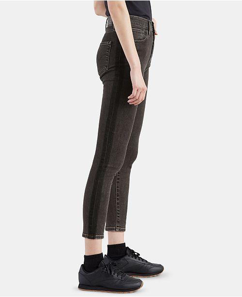 Levi's 721 Striped High-Rise Ankle Skinny Jeans