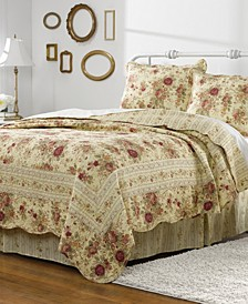 Antique Rose Quilt Set, 3-Piece King