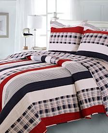 Nautical Stripe Quilt Set, 3-Piece Full - Queen