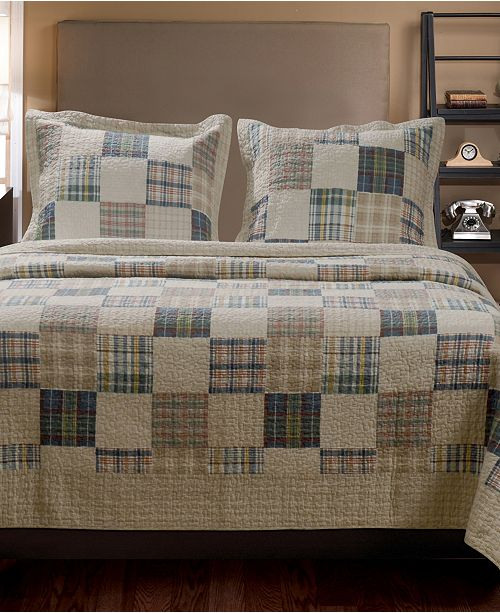 Greenland Home Fashions Oxford Quilt Set, 2-Piece Twin