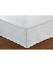 """Paisley Quilted Bed Skirt 18"""" Queen"""