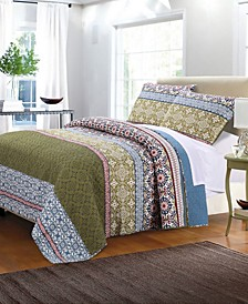 Shangri-La Quilt Set, 3-Piece Full - Queen