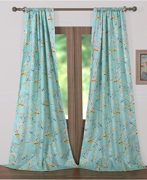 Greenland Home Fashions Cherry Blossom Window Panel Pair