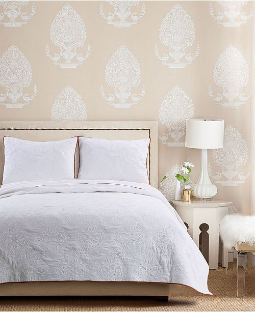 Greenland Home Fashions Cameo Whisper Quilt Set, 3-Piece Full - Queen