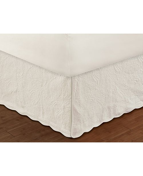 "Greenland Home Fashions Paisley Quilted Bed Skirt 18"" Full"