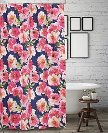 Peony Posy Bath Shower Curtain